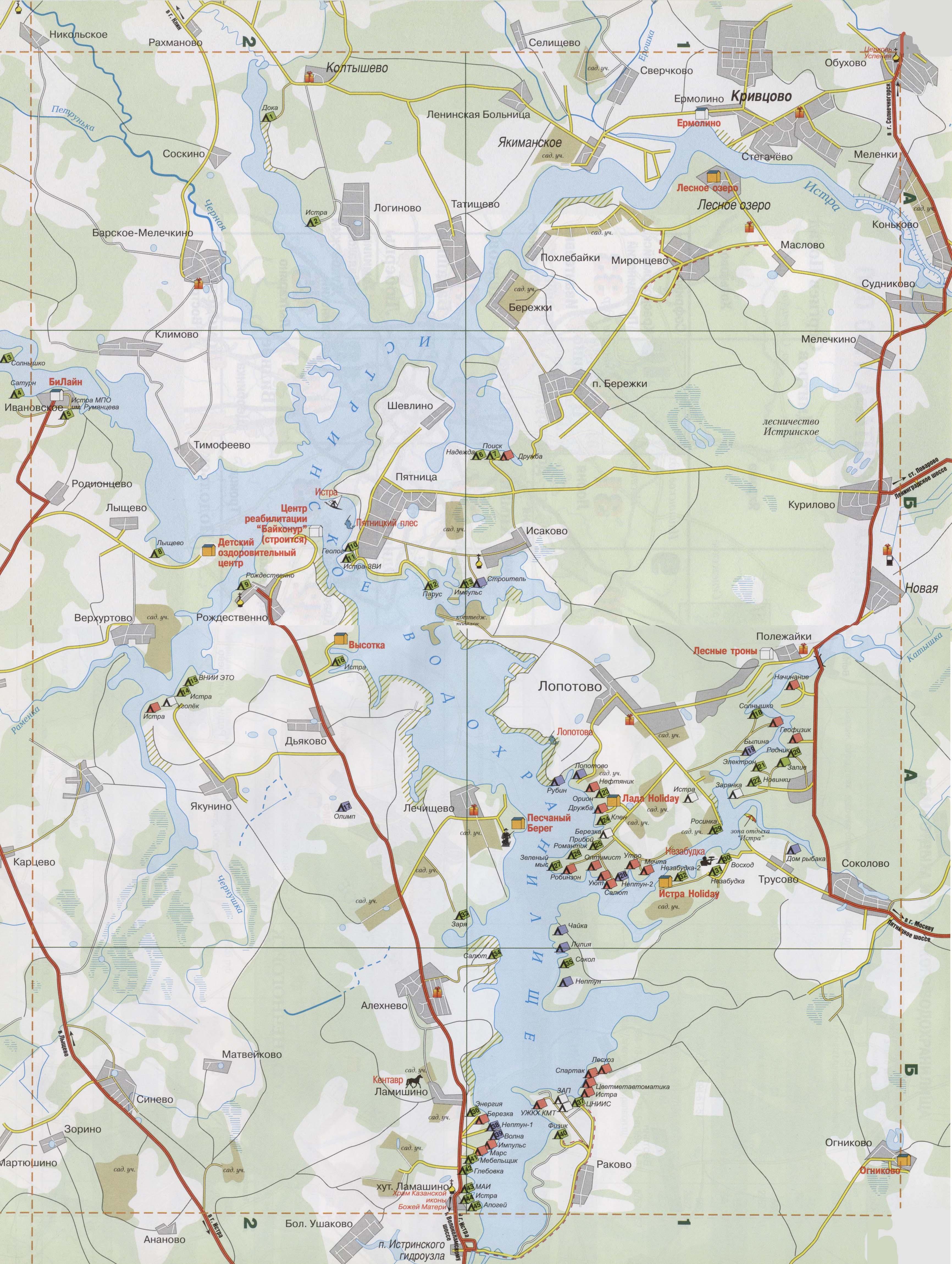 рыбалка в подмосковье бесплатно карта с координатами